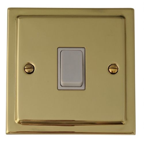 G&H TB5W Trimline Plate Polished Brass 1 Gang Intermediate Rocker Light Switch